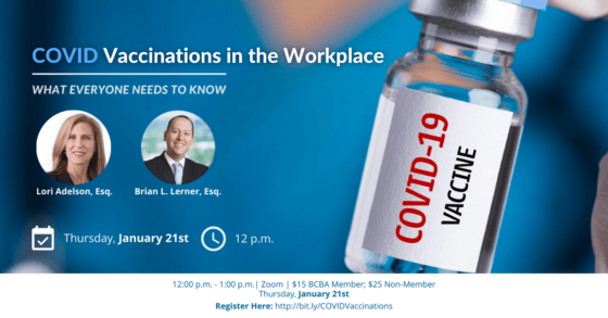 Webinar: COVID Vaccinations in the Workplace
